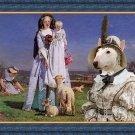 Miniature Bullterrier Fine Art Canvas Print -  The Pretty Baa Lambs
