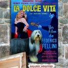 Bearded Collie Poster Canvas Print -  La Dolce Vita