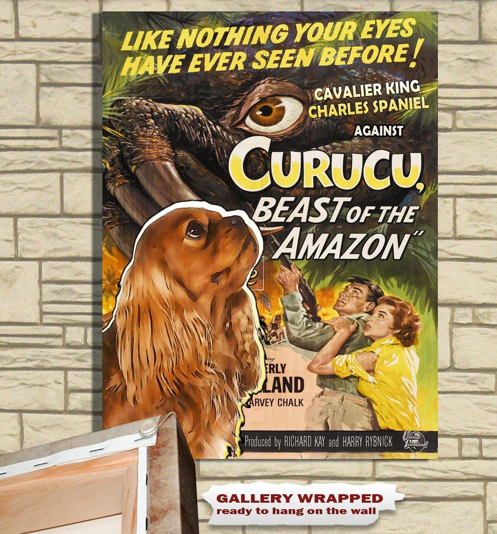 Cavalier King Charles Spaniel Poster Canvas Print -  Curucu, Beast of the Amazon