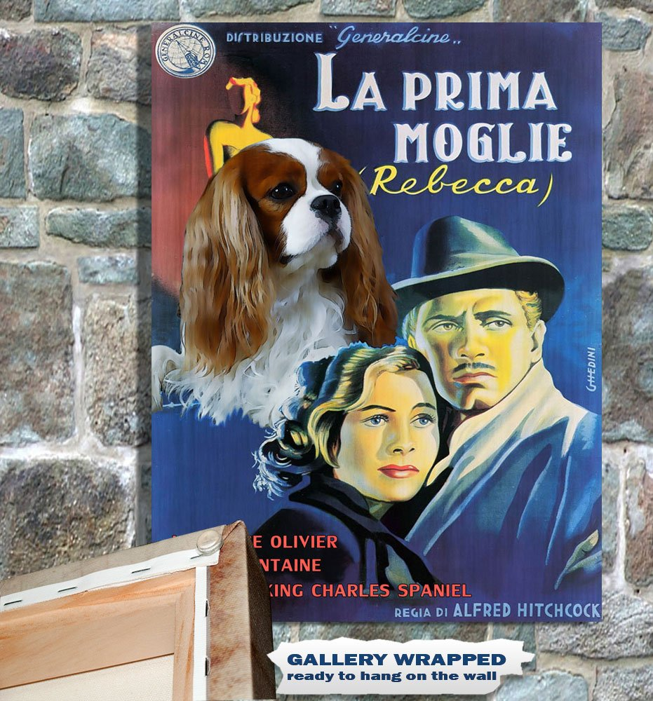 Cavalier King Charles Spaniel Poster Canvas Print -  Rebecca