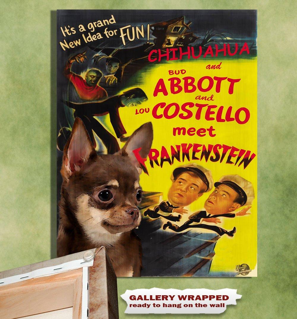 Chihuahua Poster Canvas Print -  Abbott and Costello Meet Frankenstein