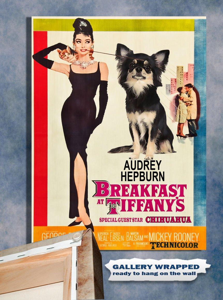 Chihuahua Poster Canvas Print -  Breakfast at Tiffany's