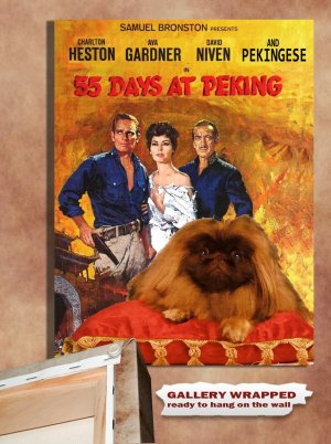 Pekingese Poster Canvas Print -  55 Days at Peking