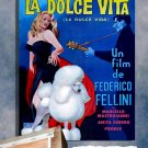Poodle Poster Canvas Print -  La dolce vita