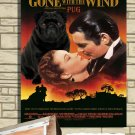 Pug Poster Canvas Print -  Gone with the Wind
