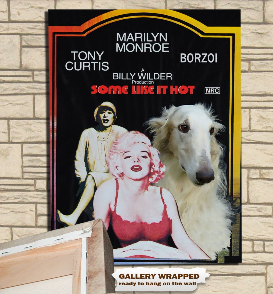 Borzoi Poster Canvas Print -  Some Like It Hot
