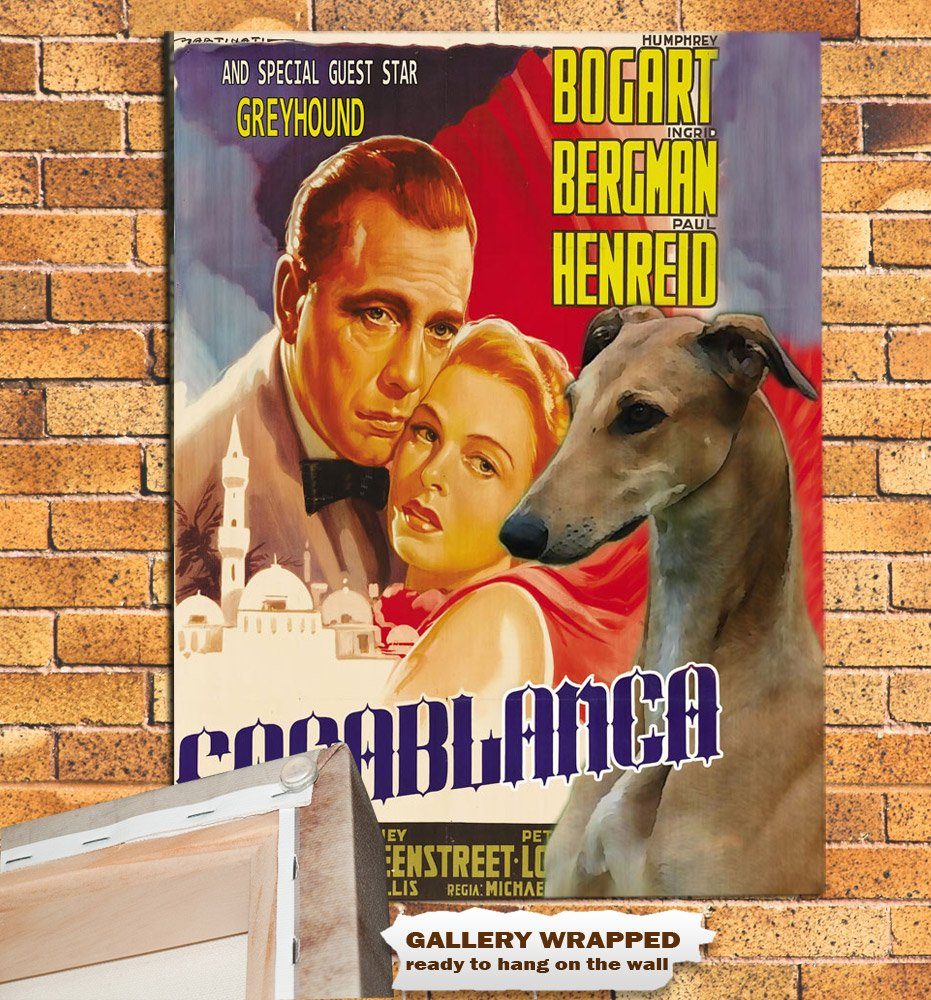 Greyhound Poster Canvas Print -  Casablanca