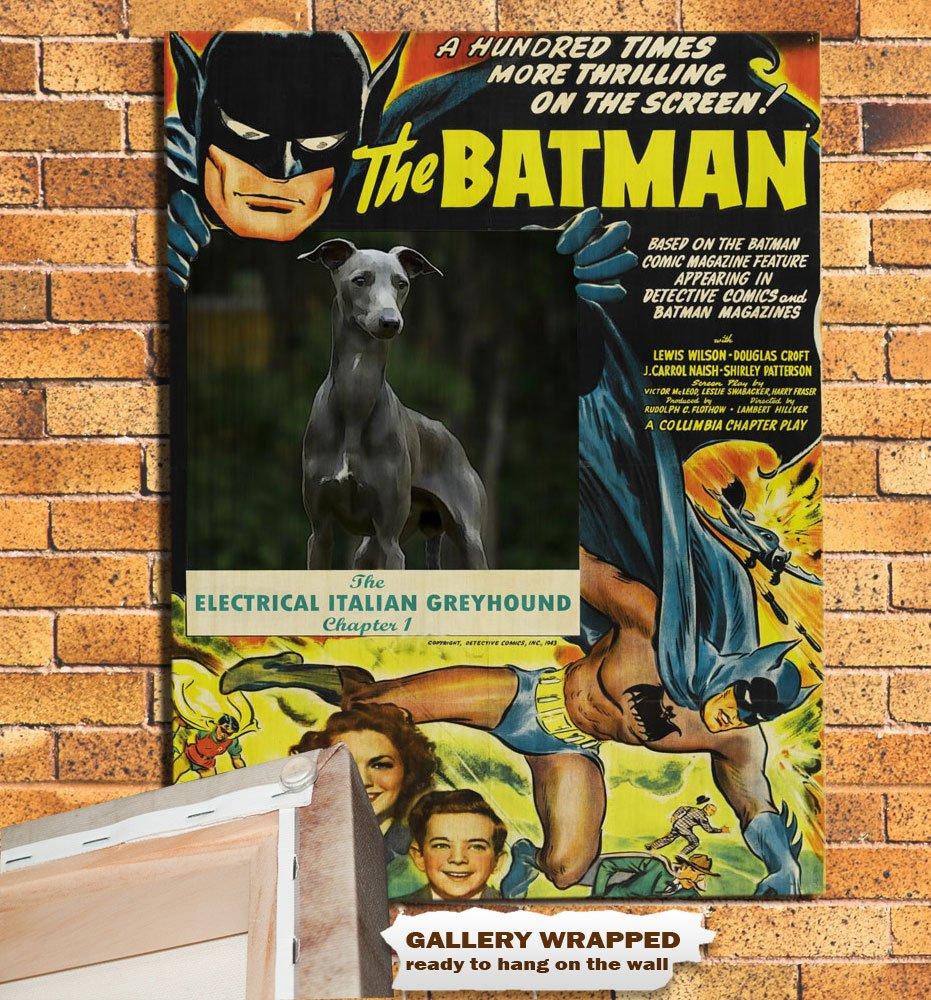 Italian Greyhound Poster Canvas Print -  Batman