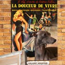 Italian Greyhound Poster Canvas Print -  La Dolce Vita