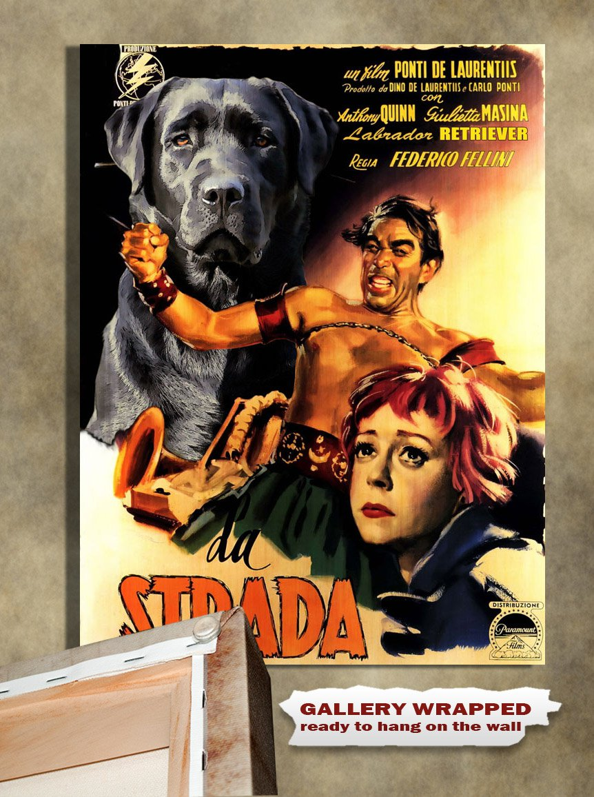 Labrador Retriever Poster Canvas Print -  La Strada