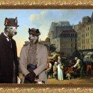 Australian Cattle Dog Fine Art Canvas Print - Bon Voyage