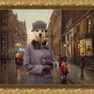 Australian Cattle Dog Fine Art Canvas Print - Charleston Blues