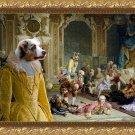 Australian Shepherd Fine Art Canvas Print - The madam and joyfull friends