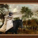 Beauceron Fine Art Canvas Print - The ride at the old inn