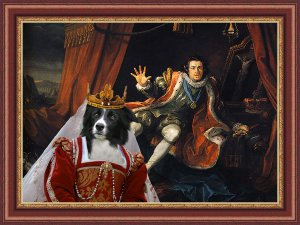 Border Collie Fine Art Canvas Print - Run for life, the king is coming