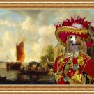 Border Collie Fine Art Canvas Print - The black market lord
