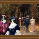 Border Collie Fine Art Canvas Print - Les Fiances