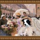 Border Collie Fine Art Canvas Print - The florist