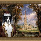 Border Collie Fine Art Canvas Print - The lord of Sailsbury