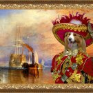 Border Collie Fine Art Canvas Print - The fighting Temeraire