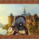 Bouvier des Flandres Fine Art Canvas Print - A crusader bride