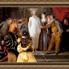 Briard Fine Art Canvas Print -  The Italian comedians