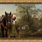 Briard Fine Art Canvas Print -  The riding intermezzo