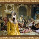 Briard Fine Art Canvas Print - The queen and and her fools