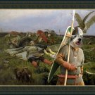 Ciobanesc Romanesc Mioritic Fine Art Canvas Print - After the battle