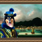 Collie Rough Fine Art Canvas Print - The governor of Hong Kong