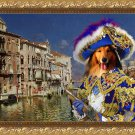 Collie Rough Fine Art Canvas Print - The rich merchant in Venice