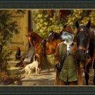 Czechoslovakian Wolfdog Fine Art Canvas Print - After the hunt