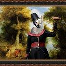 Czechoslovakian Wolfdog Fine Art Canvas Print - The prophete, the ange and falcon lady