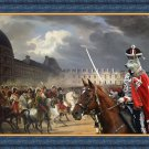 Czechoslovakian Wolfdog Fine Art Canvas Print - The military parade