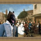 Groenendael Fine Art Canvas Print - The wedding party