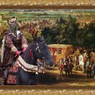 Hollandse Herdershond Fine Art Canvas Print - The king Sun and his court