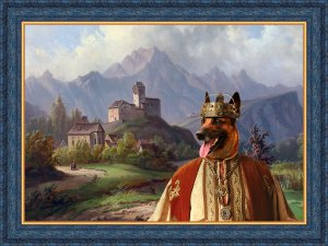 Malinois Fine Art Canvas Print  - View on the town