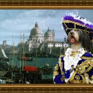 Polish Lowland Sheepdog Fine Art Canvas Print - View on the Grand canal