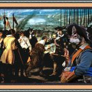 Saarloos Wolfhound Fine Art Canvas Print - The surrendering of the keys of the city