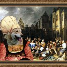 Saarloos Wolfhound Fine Art Canvas Print - The village celebrations