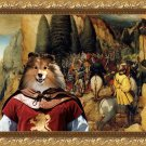 Shetland Sheepdog Fine Art Canvas Print - Gathering before the battle
