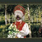 South Russian Ovtcharka Fine Art Canvas Print - Birchen clearing