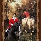 Welsh Corgi Cardigan Fine Art Canvas Print - Hunting horn