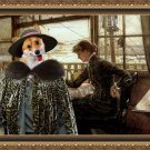 Welsh Corgi Pembroke Fine Art Canvas Print - Room Overlooking the Harbour