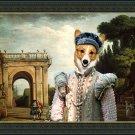 Welsh Corgi Pembroke Fine Art Canvas Print - View of the Villa Ludovisi Park in Rome