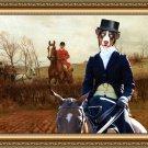 Appenzeller Sennenhund Fine Art Canvas Print - The noble lady in Fox hunt
