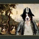 Bernese Mountain Dog Fine Art Canvas Print - Ceremony in the park