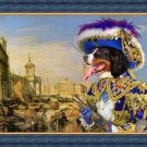 Bernese Mountain Dog Fine Art Canvas Print - Rich Pirate in Venice