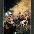 Broholmer Fine Art Canvas Print - Centaures and soldier