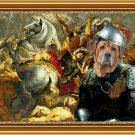 Broholmer Fine Art Canvas Print - The worry soldier at the battle